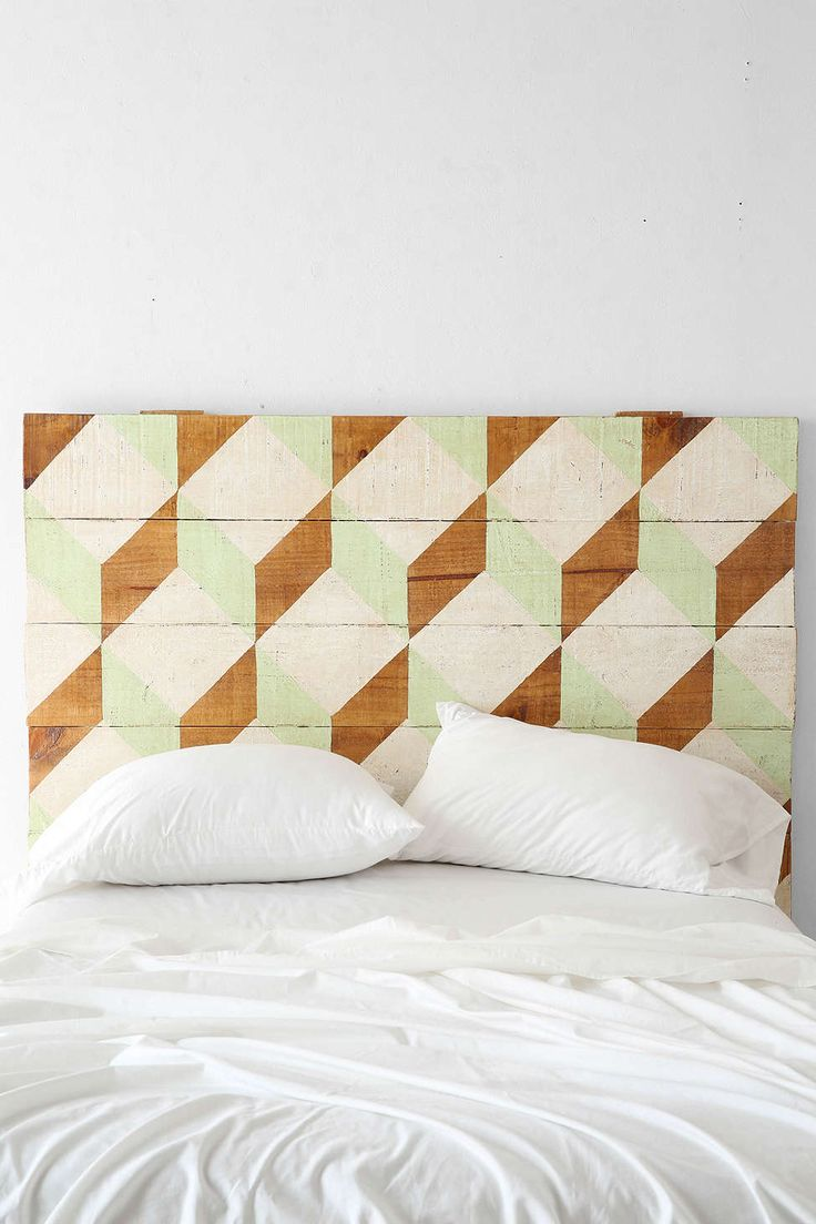Oh My Wood! Geo Headboard - Urban Outfitters