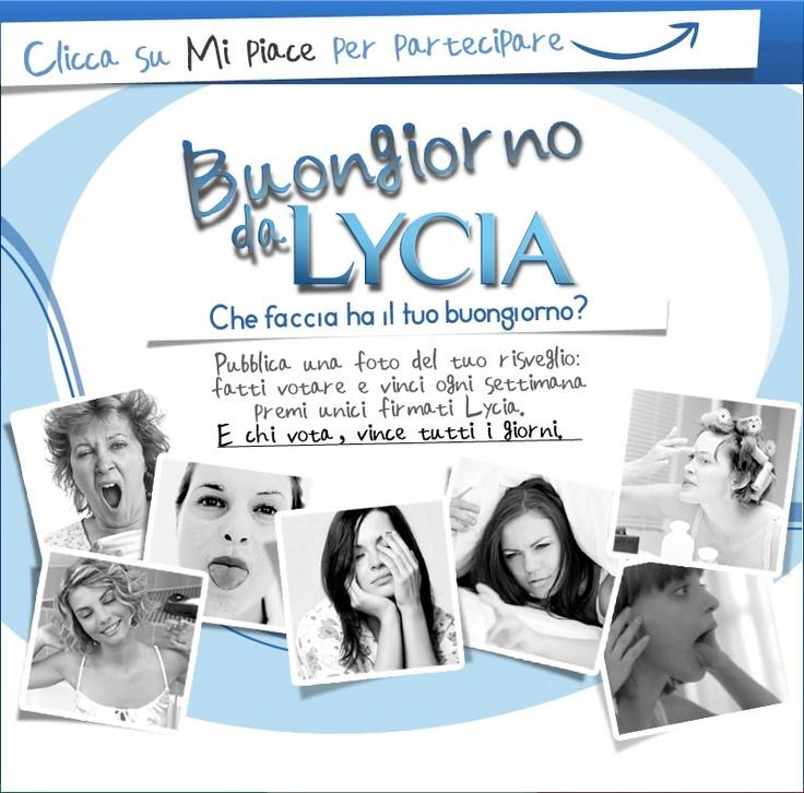 su facebook parte il concorso a premi BUONGIORNO DA LYCIA