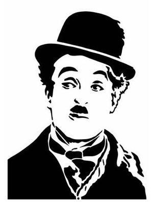Pochoir Adhésif 28 x 20 cm PORTRAIT CHARLIE CHAPLIN