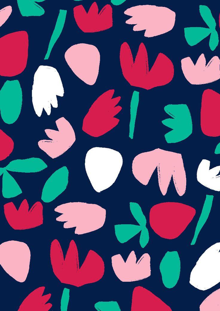 Minakani - tulips & strawberries