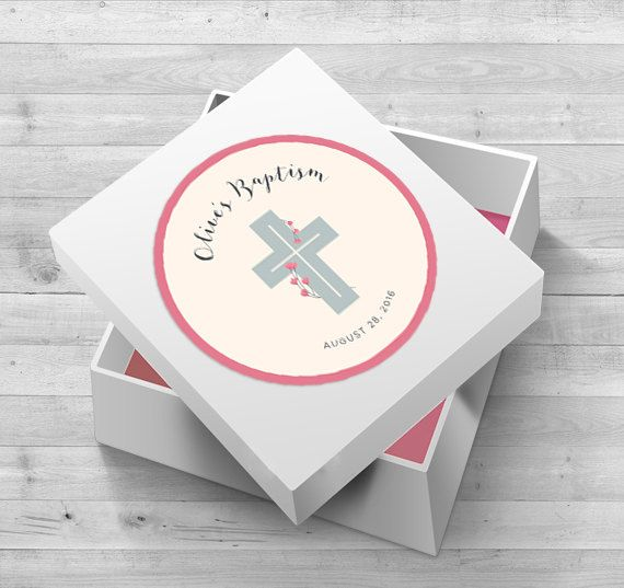 Baptism Favor Tags Baptism Favors Girl by WLAZdesignSHOP on Etsy