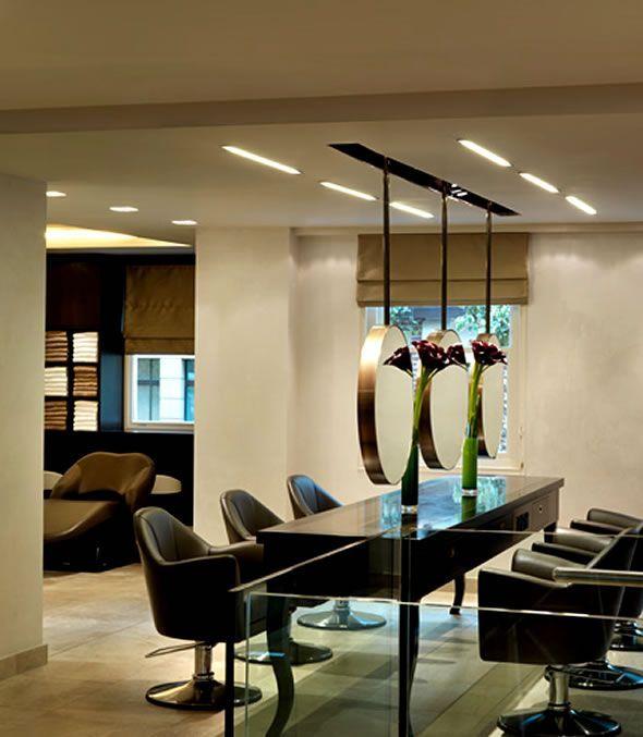 Image Result For Middle Room Hanging Mirror Salon Salon Interior Design Small Hair Salon Salon Decor