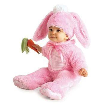Pembe Tavşan Bebek Kostümü 12-18 Ay