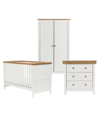 Mothercare Lulworth 3 Piece Nursery Furniture Set   Classic White