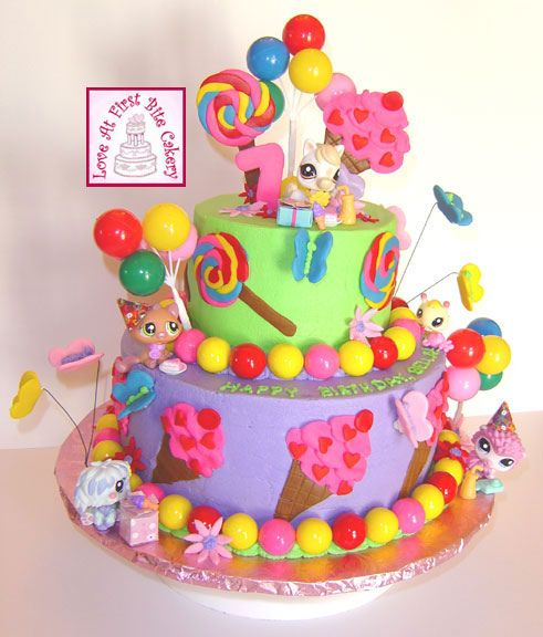 little pet shop cakes | Little Pet Shop Birthday Cake