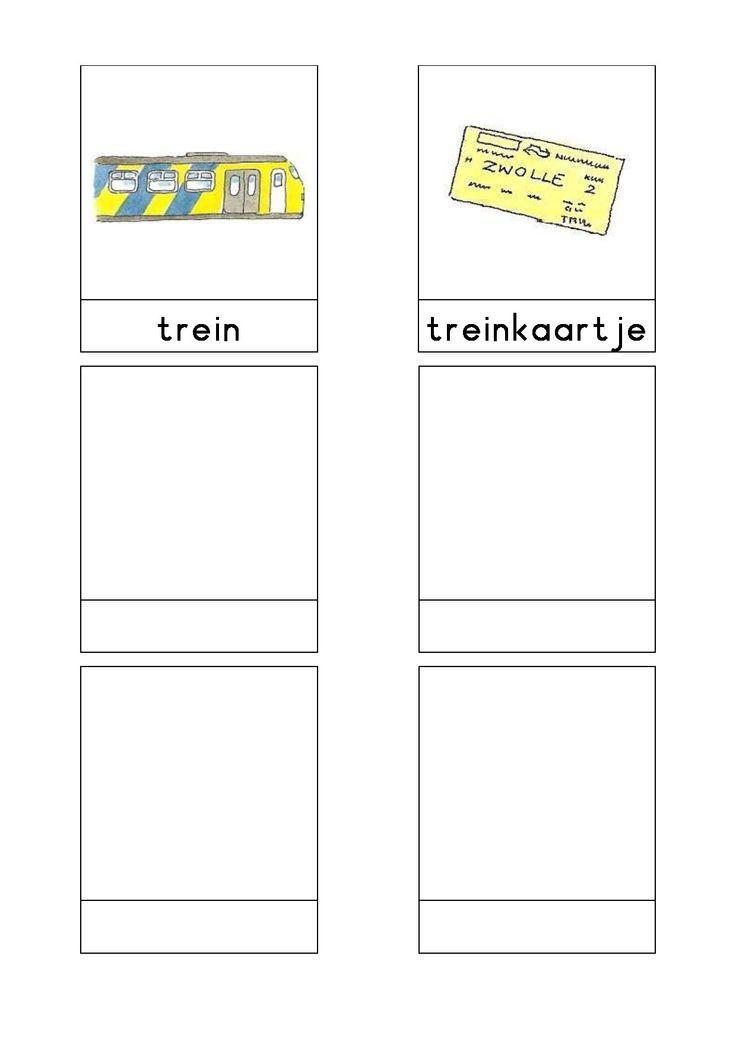 Woordkaarten Bas 'Het station' 3
