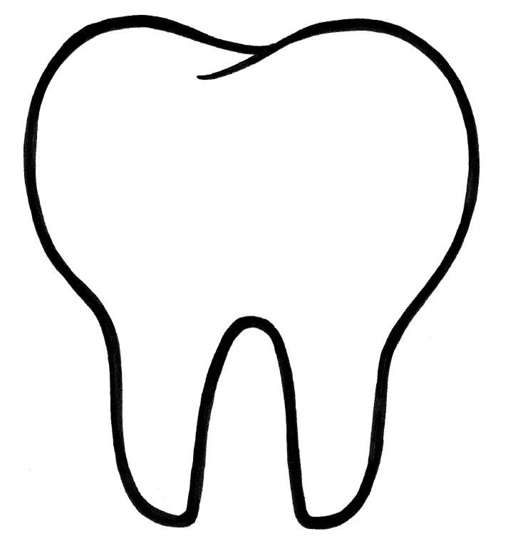 Pin on Tooth shape cut out