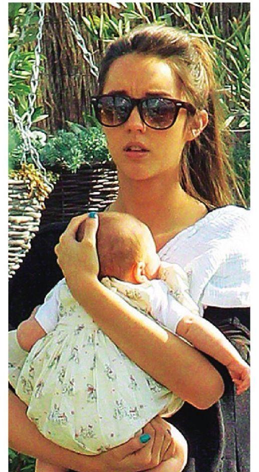 Emily macdonagh and baby Amelia - Ok magazine