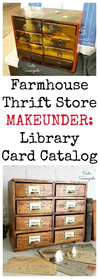 Upcycling Thrift Store Furniture into Library Card Catalog for Vintage Decor