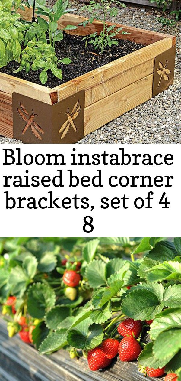 Bloom instabrace raised bed corner brackets, set of 4 8