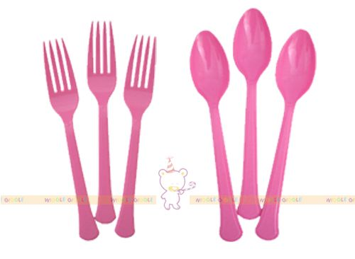 Pink Plastic Cutlery. These adorable plastic cups are perfect for your next party! We also offer coordinating plates, napkins and cutleries. Visit us at www.wigglegiggle.com