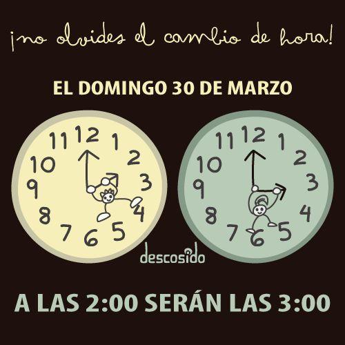 Cambio de hora, hoy. by Descosido