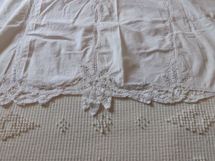 Vintage look French Country Cottage SHABBY Victorian Lace Crochet Curtain Cafe ?
