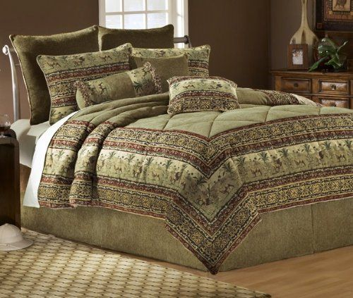 African Safari 11-Piece Queen Bedding Set By Universal