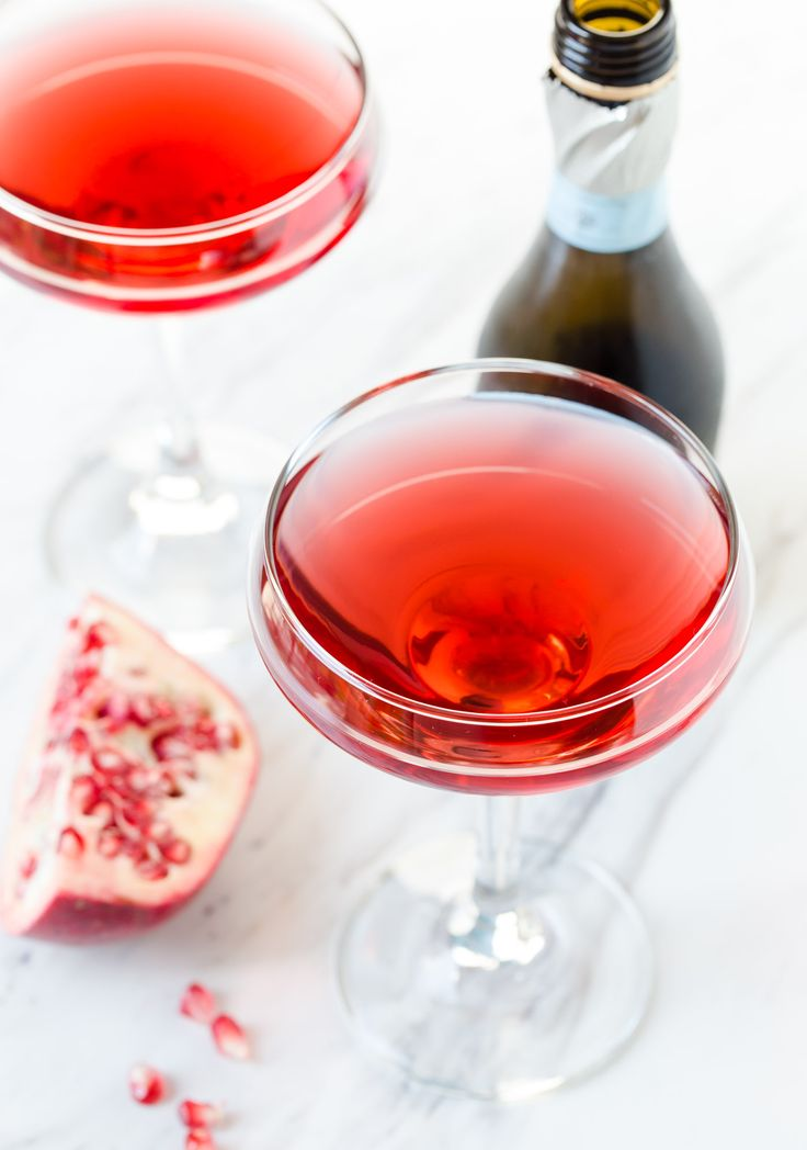 Bubbly Prosecco is the perfect partner for tart pomegranate juice. They are a match made in heaven in this Pomegranate Prosecco Cocktail.