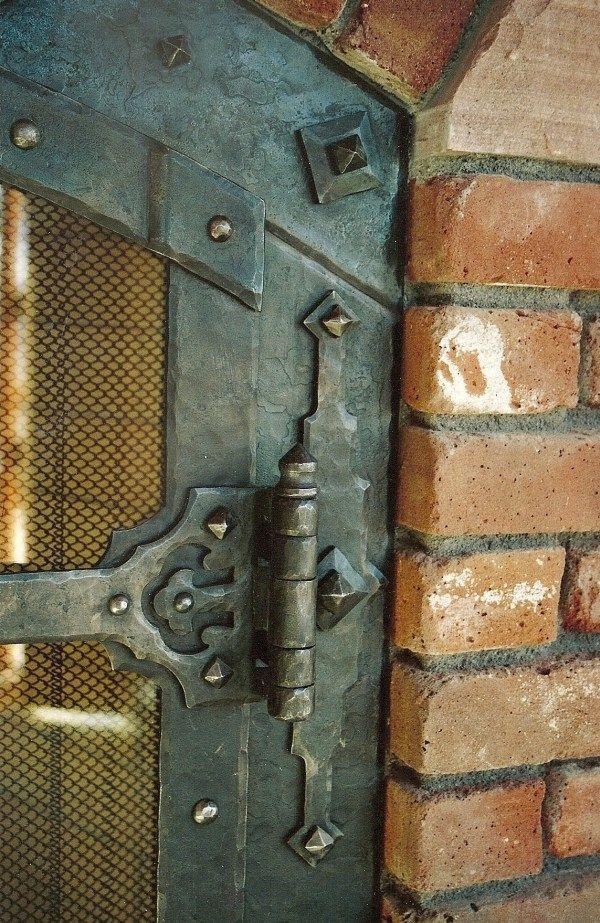 Fireplace Doors & Accessories, Ornamental Ironwork by Forging Ahead Inc, Rod Pickett, Durango, Colorado Blacksmith
