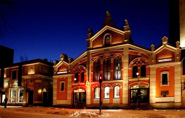 Market Hall Vaasa, Ostrobothnia province of Western Finland.- Pohjanmaa - Österbotten