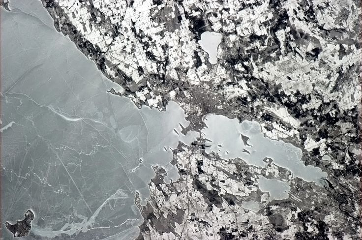 Orillia from space-Chris Hatfield