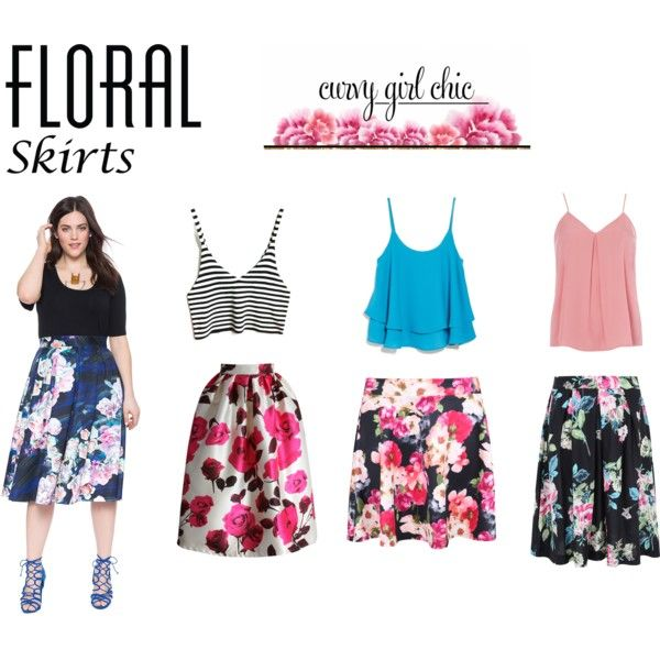 Floral Skirts by ve-ethnic-channel on Polyvore featuring Dorothy Perkins, MANGO, Chicwish, contestentry and PVCurvyChic