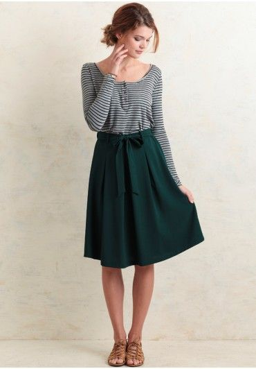 Potter's Pot Paige Bow Skirt In Green  at shopruche.com