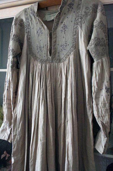 Smock | Stitching pattern | Soft grey | Pale