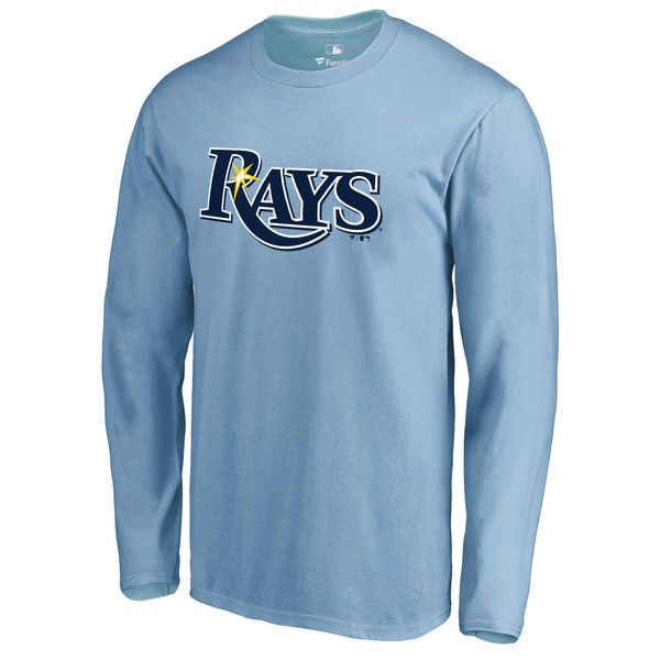 Tampa Bay Rays Secondary Color Primary Logo Long Sleeve T-Shirt - Light Blue - $29.99
