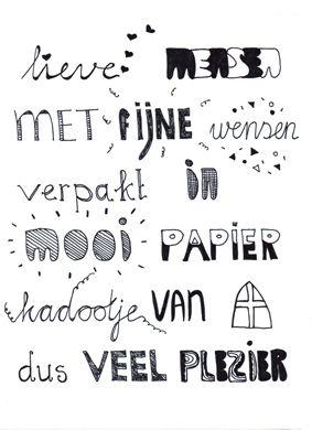 Download en print je eigen Sinterklaasgedicht cadeaupapier!