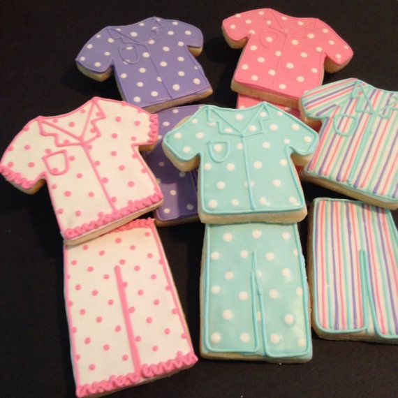 Pajama Party Cookies-1 Dozen by kjcookies on Etsy