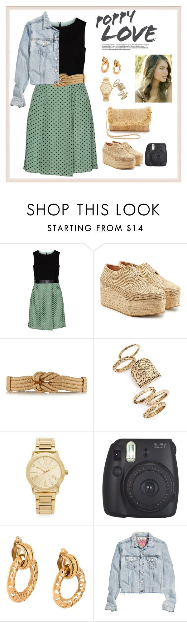 """Sin título #49"" by raertf ❤ liked on Polyvore featuring Manon Baptiste, Robert Clergerie, Valentino, Topshop, Michael Kors, Tara Lynn, Fujifilm, Chanel, H&M and Hat Attack"