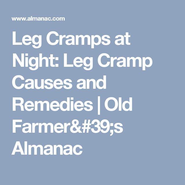 Leg Cramps at Night: Leg Cramp Causes and Remedies | Old Farmer's Almanac