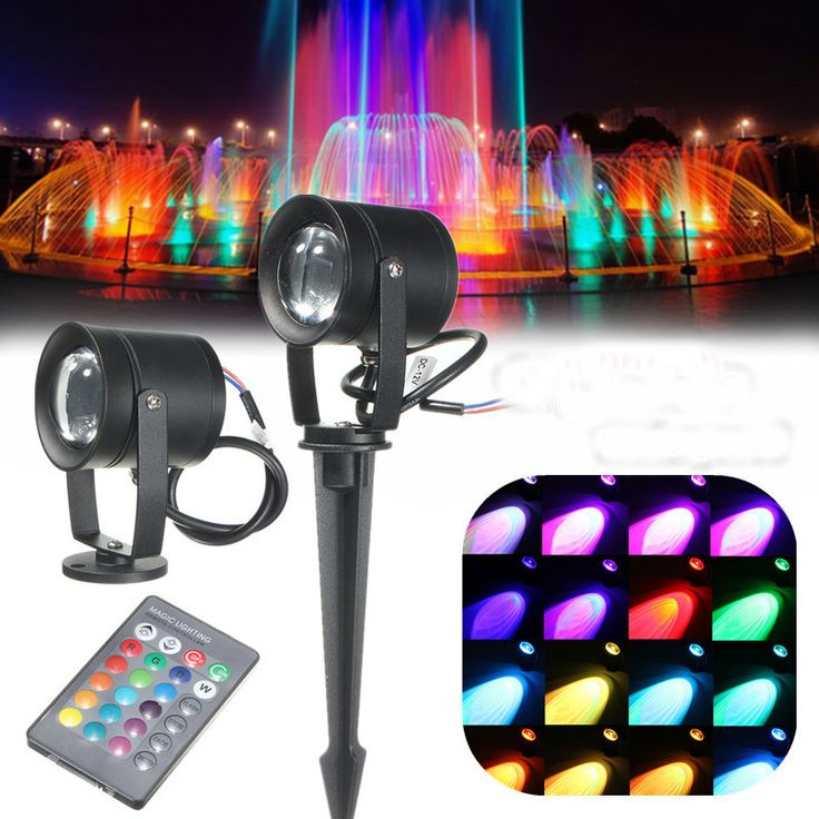 16Colors 10W Waterproof LED RGB Flood Spot Lawn Light Spot Lightt Bulb AC85-265V+Remote