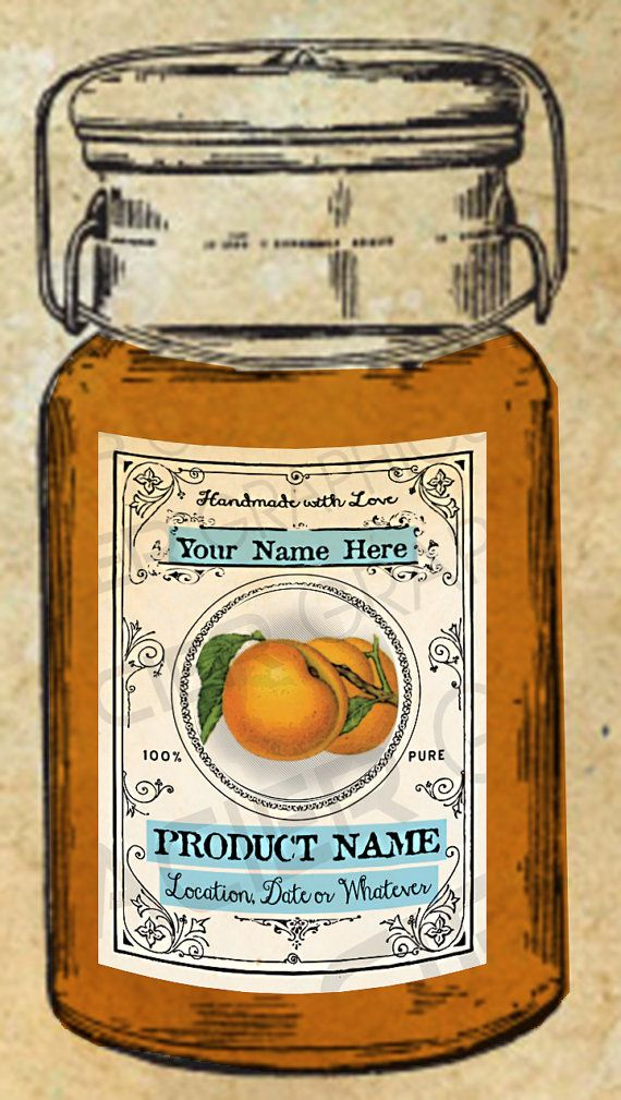 Rustic Apricots Canning Label Apricot Jelly by WAGlacierGraphics