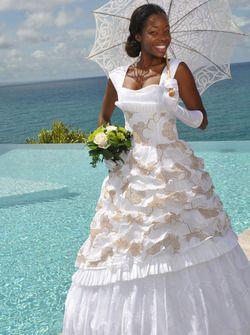 Robe de Mariée MARIAGE créole, antillais Ernestina - Dodyshop