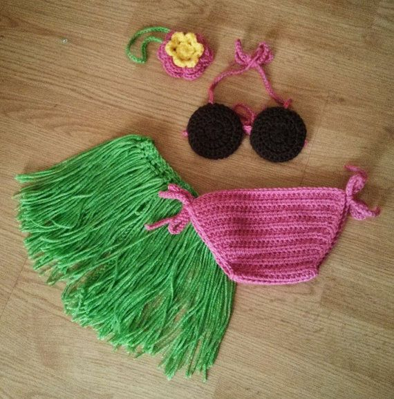 Infant bikini bottom addon for Hula Costume set by fromtheheart3, $7.00