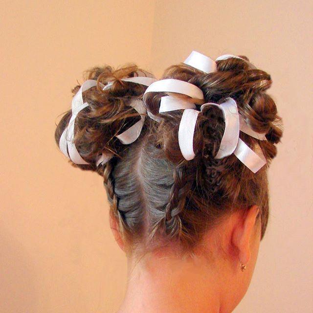 #прическа_в_школу #пучки _с_лентами#косы_сыктывкар #обучение_сыктывкар #hairstyle #hair_video #hair_tutorial #braid #trenza #peinado #peinado_para_escuela #moño
