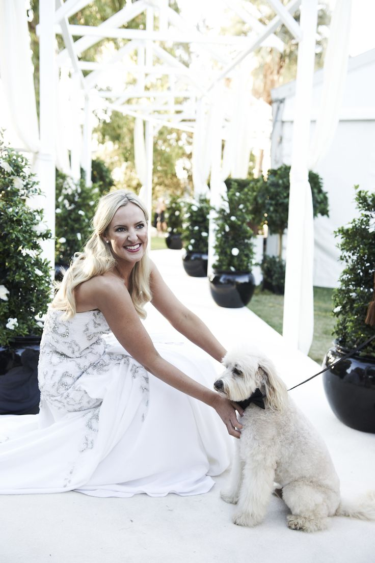 The bride and her pup by @azbcreative