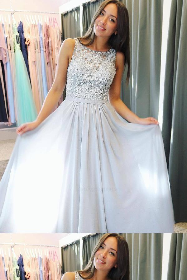 6d46ccc133 Cheap Comfortable Chiffon Prom Dress