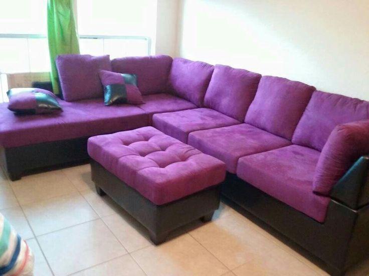 Love this purple sectional sofa!   Purple sofa, Living ...