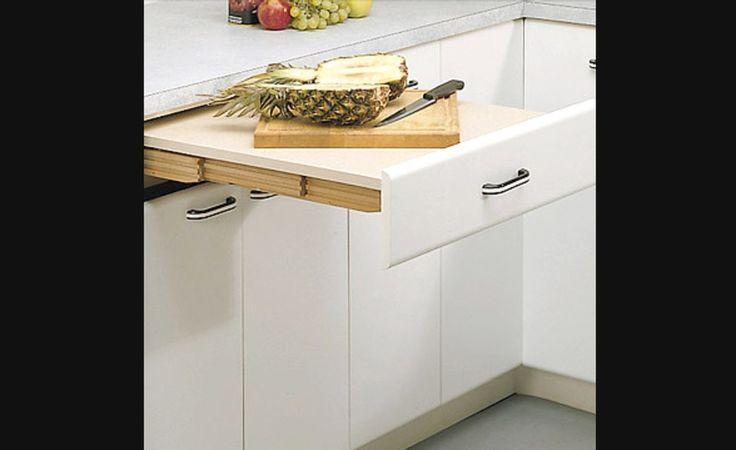 Table extensible en bois stratifié pour armoires de cuisine - Rangement pour armoires de cuisine | Accessoires de cuisine