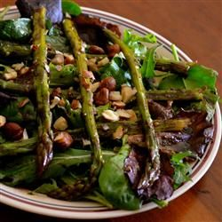 Microwave Asparagus Salad....I plan to try this and add some red onion, mandarin oranges, strawberries & goat cheese-yum yum