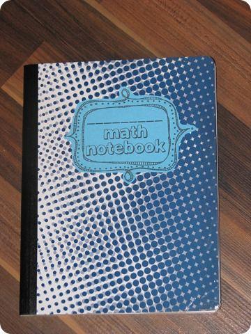 The Reading Corner: Math Notebooks