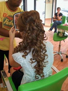peinado semirecogido hermoso