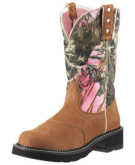 Ariat Probaby Pink Camo Cowgirl Boots - Round Toe
