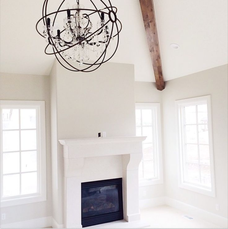 Dove White trim and Ashwood for walls, both by Benjamin Moore.-TRIM WITH…