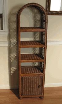 Wicker Bathroom Shelf Via Wickerparadise Cabinet Www
