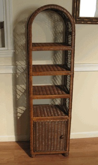 Wicker Bathroom Shelf Via Wickerparadise Wicker