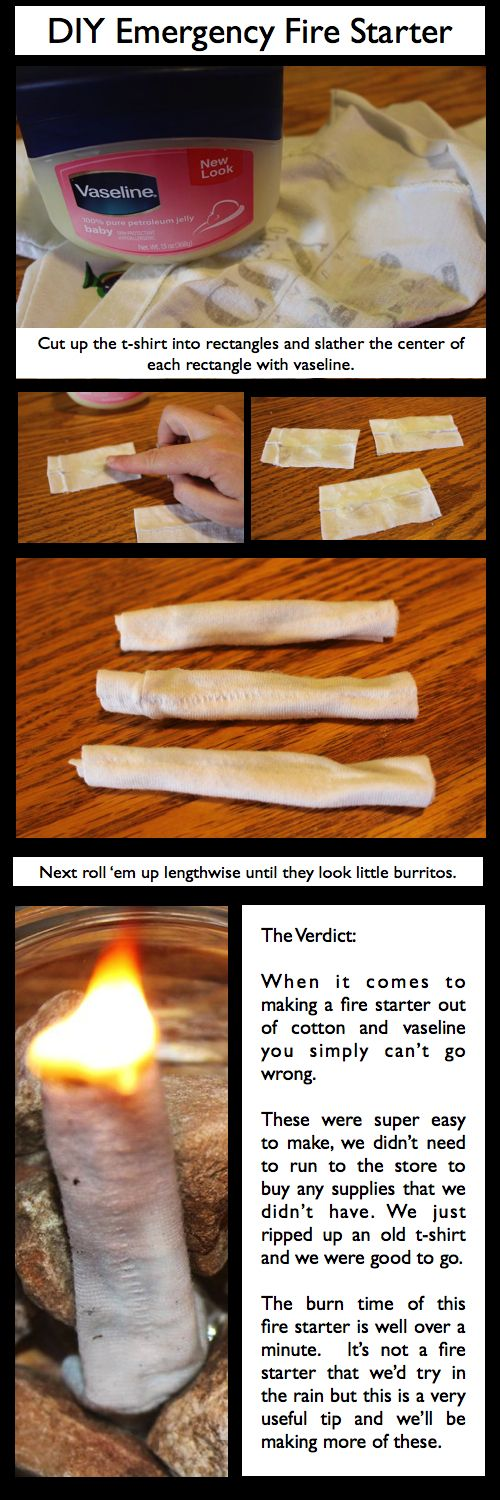 DIY Emergency Fire Starter....just in case the lint ones don't work