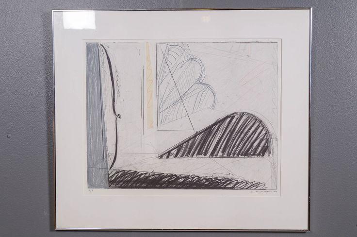 Jan Kenneth Weckman: Helmikuu, 1987, litografia, 50x64 cm, edition 17/75 - Huutokauppa Helander 05/2015