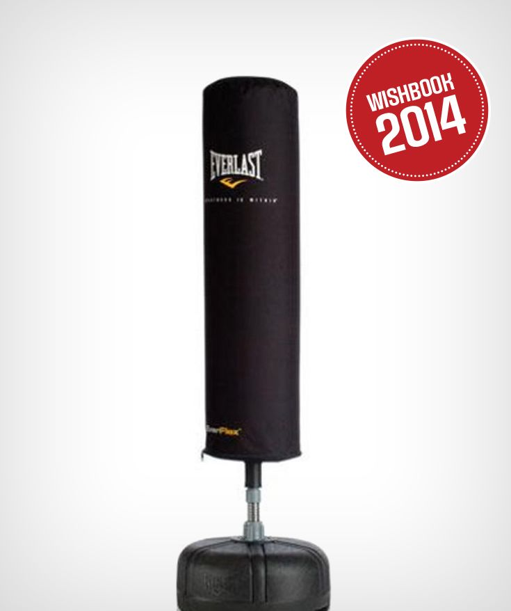 Build your cardio workout in the comfort of your home with a freestanding punch bag