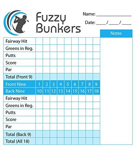 amazoncom golf scorecard holder and yardage book cover plus free golf pencil and downloadable pdf stat tracker sheet by fu
